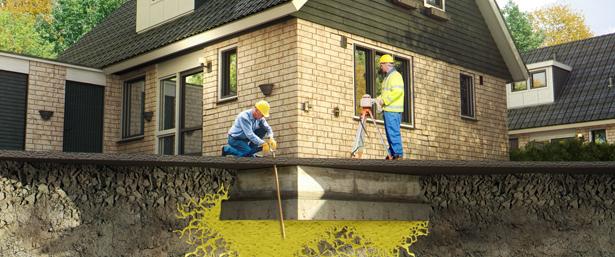 Uretek Deepinjection methode bij woonhuizen