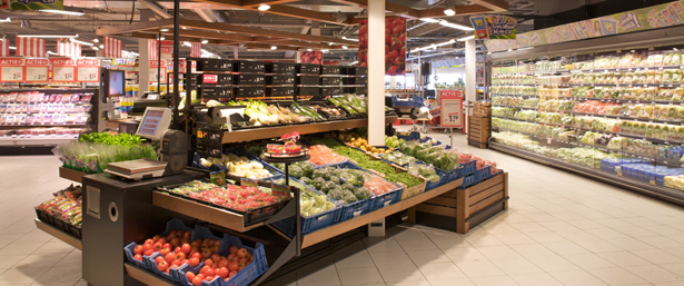 Supermarkten en winkelcentra