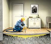 Herstel verzakte vloeren uretek floorlift methode
