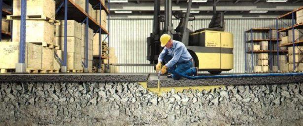 Honderden meters bedrijfsvloer weer keurig recht