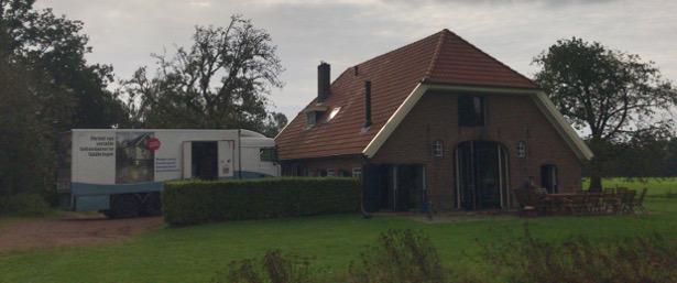 Stabilisation des fondations d'un logement de vacances à Ruurlo